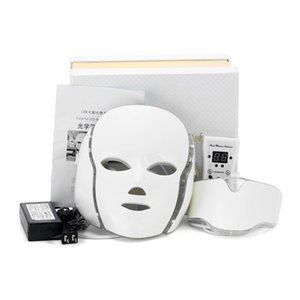 Wholesale home mask for acne resale online - Home Use Red light therapy PDT Beauty Therapy colors LED Mask with Face Neck for Skin Rejuvenation Acne Treatment DHL