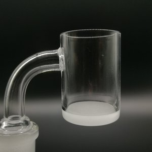 Wholesale Top quality Opaque Bottom Gavel Flat Top Quartz Banger dab Nail mm mm mm Male Female Degree Honey Bucket for bong