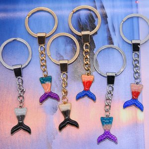 Wholesale Ocean Mermaid Tail Child Keychain Sequin Keyring Female Decoration Pendant Car Key Accessories Wedding Party Mom Gift
