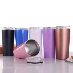 Wholesale 16oz stainless steel tumbler straight cup water bottle vacuum double wall travel mug insulated coffee for cold and hot drinks