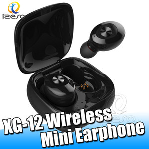 Wholesale TWS XG12 Bluetooth Wireless Earphones Mini Earbuds Auto Paring Earpiece with Charging Case izeso