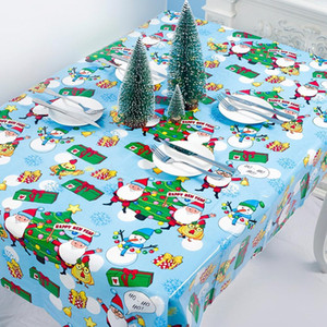 Wholesale tablecloth christmas resale online - Santa Claus Snowman Christmas Tablecloth Merry Christmas Decor for Home Christmas Ornaments Natal Happy New Year