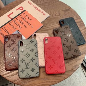 Wholesale Embossing Monogram Back Cover for New Apple iPhone Pro Max XS Max XR Plus for Samsung S8 S9 S10 Plus G Cell Phone Cases Shell