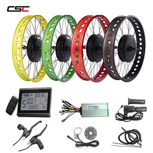20'' 24'' 26'' x 4.0 wide fat tire electric bike conversion kit Snow Beach e bicycle 48v 1000W Hub Motor Front or Rear Wheel Kit