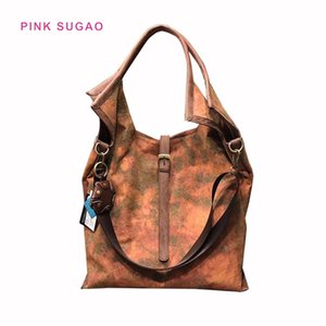 Pink sugao designer handbag tote bags women luxury shoulder bag retro styles purses new fashion pu letaher high quality handbag crossbody on Sale