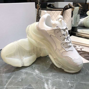 ingrosso aria s-Beige Retro Triple S Luxury Sneakers Donna Low Top Casual Scarpe Uomo Chunck Air Sole Casual Sneaker Designer Triple S Shoes
