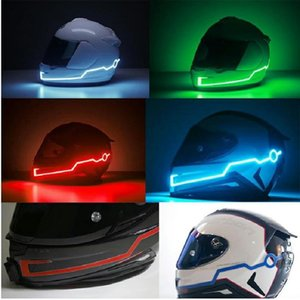 Wholesale New Motorcycle Helmet EL Cold Light LED DIY Naught Night Riding Reflective Strip Modification Cross Country Safety Sticker