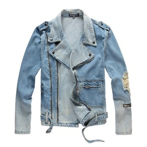 Wholesale Balmain Designer Jacket Fashion Coat Men Women Denim Coat Casual Hip Hop Designer Jacket Mens Clothing Size M XL