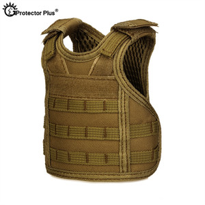 PROTECTOR PLUS Tactical Vest Layer Military Beer Bottle Set Mini Molle vest Hunting Bottle Drink set Adjustable Shoulder Straps #28640