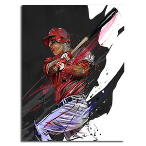Baseball Player By Yann Dalon HD Canvas Posters Prints Wall Art Painting Decorative Picture Modern Home Decoration Accessories HD