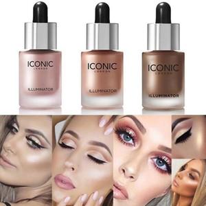 Icoinc Face Highlighter Liquid Long-lasting Elixir Brighten Bronzers Illuminator Makeup Shimmer Glow Facial Shiny Cosmetic Highlighter