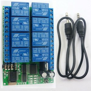 Freeshipping AD22A08 DC 12V 8 channels DTMF Relay MT8870 Decoder Phone Remote Control switch