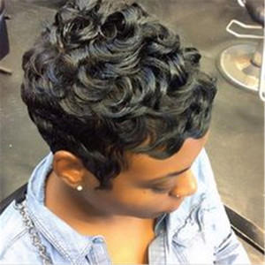 Wholesale medium short curly hairstyles for sale - Group buy Human Hair Lace Front Wig Brazilian Hair Curly Wig Density Women s Short Medium short Human Hair None Lace Wig