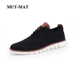 Wholesale 2019 New Bullock Men s Sneakers Ultra Light Lace Up Hollow Breathable Casual Shoes Knitted Mesh Large Size Man Footwear
