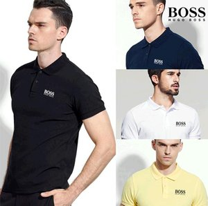 Wholesale 2019 Poloshirt Solid Polo Shirt Men Luxurys Polo Shirts Long Sleeve Men s Basic Top Cotton Polos For Boys Brands Designers Polo Homme