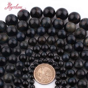 Wholesale 4 mm Round Ball Smooth Blue Tiger Eye Natural Stone Loose Bead For Jewelry Making Necklace Bracelets quot Free Shingpin