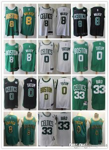 Wholesale Mens Boston Celtics Larry Bird Kemba Walker Jayson Tatum Basketball Shorts Basketball Jersey