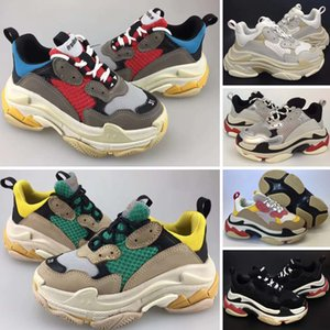 Wholesale kids shoe s resale online - New Kids Children Triple S Baby Luxury Designer Sneaker Speed High Quality Boy Girl Tess Gomma Maille Black Running Athletic Shoes Eur28