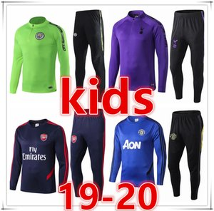 Wholesale EPL kids designer tracksuits STERLING kids soccer training suit chandal futbol Survêtement de football tracksuit jogging jacket