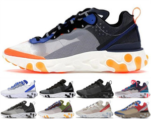 Wholesale 2019 NEW Tour Yellow react element mens casual shoes men women Orange Peel Sail triple black white Taped Seams trainers sneakers