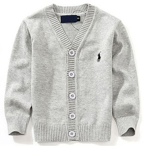 Wholesale 2019 Fashion New Kids Sweater Autumn Children Polo Cardigan Coat Baby Boys Girls single breasted jacket Sweaters outer wear
