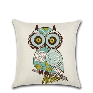 Wholesale Cartoon owl bird cushion cover Party Decor Chair car shop seat Home sofa Decoration kids bedroom friend gift present Pillow case