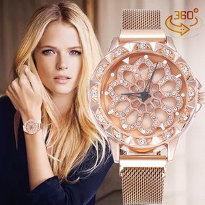 Wholesale Luxury woman Wristwatches Creative Time To Run Ladies Magnet Buckle Watch Stainless Original Clasp President Desinger Watches