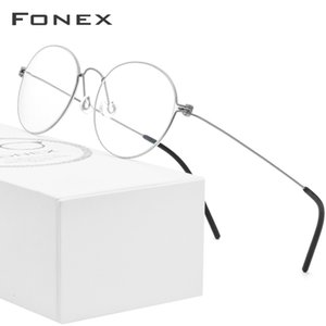 FONEX B Titanium Glasses Frame Women Prescription Eyeglasses Men 2019 New Korean Myopia Optical Frames Screwless Eyewear 7510 SH190919