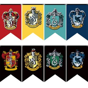 Wholesale Hogwarts College Party Flags Harry Potter Gryffindor Banner Sign CM House Wall Decoration Banner Polyester Flags TTA1963