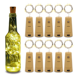Wholesale 20LED String Lamps Wine Bottle Stopper Light White Warm white Blue Green Red Cork Shaped For Party Wedding Decoration