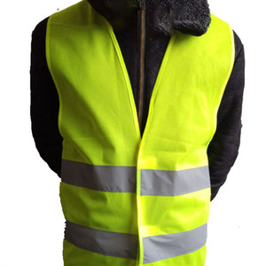 High Visibility Yellow Vest Gilets jaunes Reflective Safety Workwear for Night Running Cycling Man Night Warning Working Clothes Fluorescent