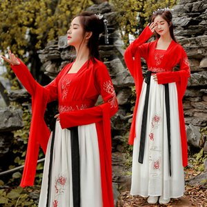Wholesale Ancient Costume Hanfu Traditional Chinese Clothing for Women Princess Fairy dress Folk Dance Festival Outfit Fancy Dress DWY1917