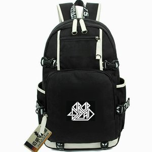 Wholesale Fashion backpack Drop Dead day pack band badge school bag Computer packsack Quality rucksack Sport schoolbag Outdoor daypack