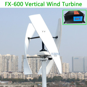 600w vertical wind turbine max 650w 12v 24v 1.5m start up 250RPM no noise with high efficient on Sale