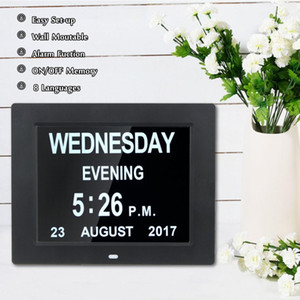 Popular 8'' LED Dementia Digital Calendar Day Week Month Year Clock Large Letter Gifts LCD Display on Sale