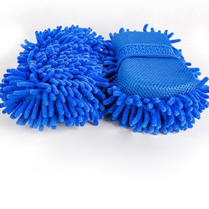 1PC Chenille Microfiber Coral Velvet Car Wash Sponge Block Car Glove Wash Tools Cleaning Supplies Cloth Towel Glove L26