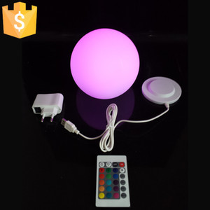 Wholesale Magic RGB led Ball outdoor diameter cm rechargeable Glowing Sphere waterproof pool LIGHT BALL for Christmas Decoration pc