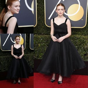 2018 Sadie Sink 75th Annual Golden Globe Awards Red Carpet Celebrity Gowns Spaghetti Straps Vintage Ankle Length Prom Gowns Vestidos on Sale