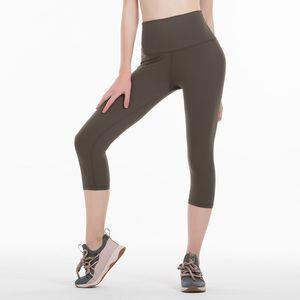 Summer Women High Waist Elastic Trousers Women Pants Printed Stretch Leggings Run Sport Fitness Cropped Leggings Workout