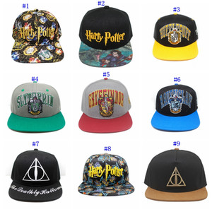 Wholesale Harry Potter hats Hogwarts Baseball Hat Adult Cotton Ball Snapback Caps Adjustable Hip Hop Hats Boys Girls Cosplay Gift MMA2318