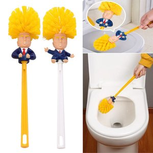 Wholesale Trump Toilet Brushes Shower Room Plastic Handle Brush Household Cleaning Brushes Tools Funny Simple Practical Supplies Style WX9