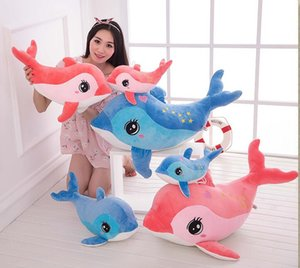 Wholesale 60 cm Lovely Dolphin stuffed animals Kids Plush Toys Home Party Pendant squishy christmas Gift Decorations