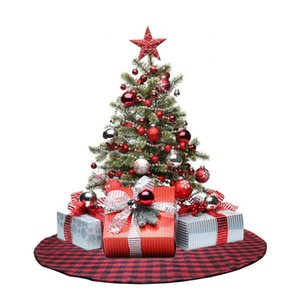 Wholesale tree skirts resale online - Plush Christmas Tree Skirts Carpet Merry Christmas Decoration for Home Noel Natal Tree Skirts New Year Decoration