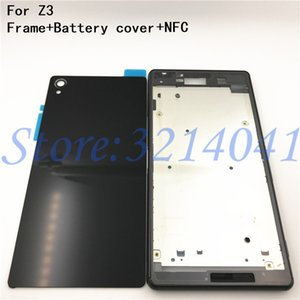Wholesale New Full Housing Case Replacement For Sony Xperia Z3 L55 L55w D6603 D6653 LCD panel Frame Middle Bezel Battery door Cover Logo