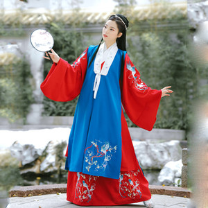 Wholesale Hanfu Dress Tang Dynasty Ancient Costumes Chinese Folk Dance Dress Classical Dance Costumes Traditional Fairy Cosplay SL1726