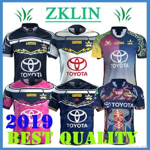 S-3XL NORTH QUEENSLAND COWBOYS Rugby Jersey NORTH QUEENSLAND COWBOYS 2019 Men's INDIGENOUS Jersey shirt Australia NRL Telstra Premiersh on Sale