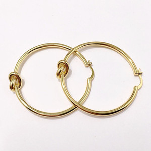 Wholesale dangling ear rings for sale - Group buy Round Knot Hoop Earrings Personality Circle Ear Ring Jewelry Designer Big Circle Simple Dangle Earrings for Women Party Jewelry DHL