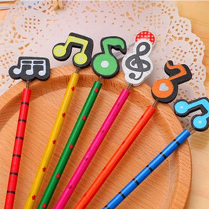 Wholesale wooden pencils hb for sale - Group buy Cartoon Musical Note Pencil Advanced Wooden Writing Pen Color Note Spring Toy HB Pencil Environmental Kids Birthday Gift