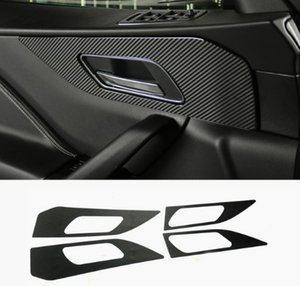 Wholesale car cover jaguar resale online - 100 High quality Car accessories Interior door handshandle Carbon fiber sticker Cover Car styling For Jaguar F Pace X761