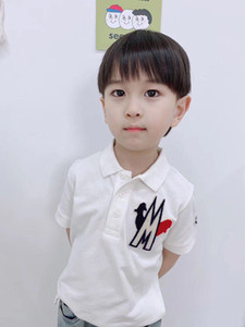 Wholesale 2020 New Fashionable Printing Kids Baby Boys T Shirts Summer Casual White cotton Kids Boys Child Polo Shirt